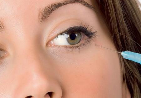 Инъекция ботокса от слез