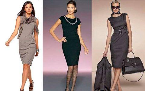 Моделирование и пошив платья-футляр с рукавами и без рукавов